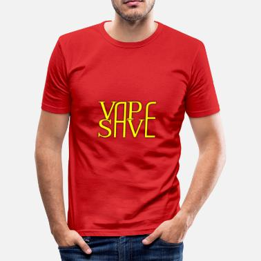 Save The Vinyl Vape Save Yellow - Slim Fit T-skjorte for menn