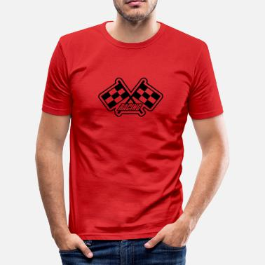 Flagge Racing Racing - Männer Slim Fit T-Shirt