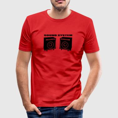 Soundsystem - Männer Slim Fit T-Shirt
