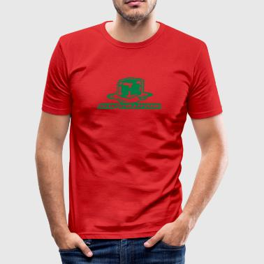 Stop Pollution - Männer Slim Fit T-Shirt
