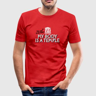 My body is a temple 2c - Men's Slim Fit T-Shirt
