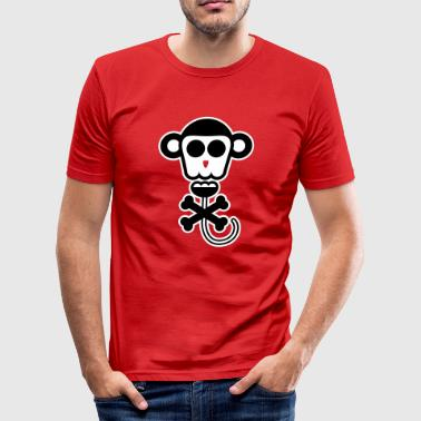 Funny Faces Monkey - slim fit T-shirt