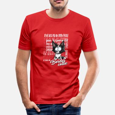 Collie Ich bin Border-Collie - Schwarz FR - Männer Slim Fit T-Shirt