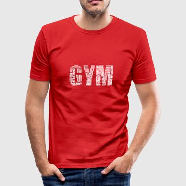 Gym Logo - Slim Fit - Men's Slim Fit T-Shirt