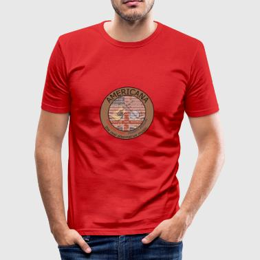Americana Music 2 - slim fit T-shirt