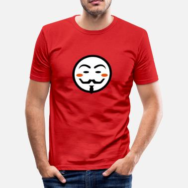 Vendetta Maske Anonymous Vendetta Mask - Männer Slim Fit T-Shirt