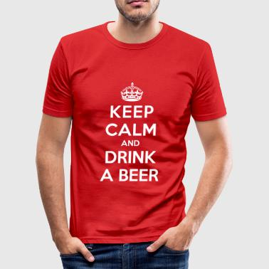 Keep calm and drink a beer - Men's Slim Fit T-Shirt