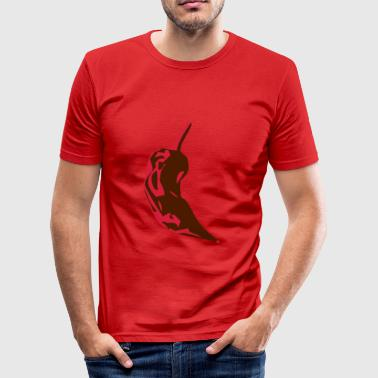 Naga Mexican hot chilli spicy chile pepper - Men's Slim Fit T-Shirt