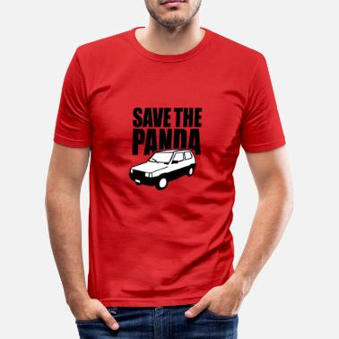 Fiat Panda Save the panda 2 clr - slim fit T-shirt