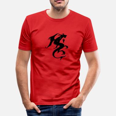 Dragon Silhouette Dragon Silhouette - Men's Slim Fit T-Shirt