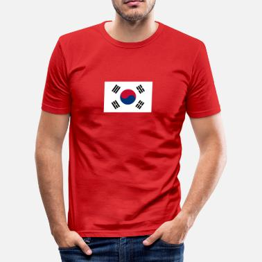 South Korea National Flag Of South Korea - Herre Slim Fit T-Shirt