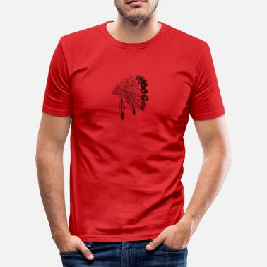 Ceremonieel indianentooi - slim fit T-shirt