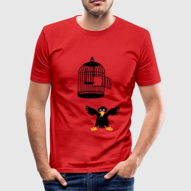 Wütender Vogel / angry bird(3c) - slim fit T-shirt