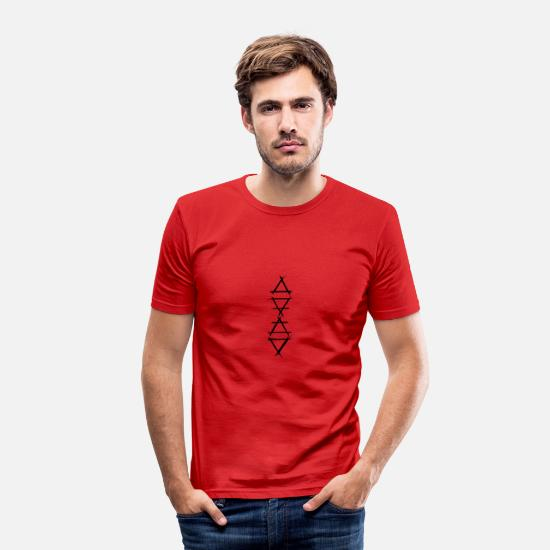Symbol  T-Shirts - Alchemy Icon 4 Elements Black - Men's Slim Fit T-Shirt red