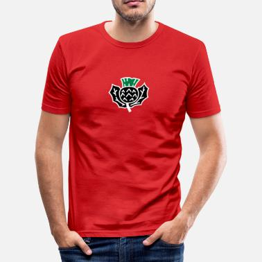 Nationalsymbol Skotsk tistel - Slim Fit T-shirt herr