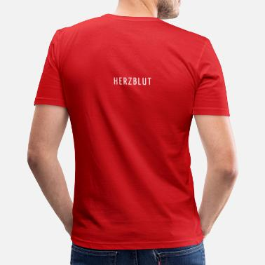 Herzblut Recordings Club Clubwear Stephan Bodzin Techno HERZBLUT SLIMFIT RED - Männer Slim Fit T-Shirt