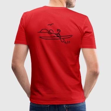 Seakayak touring - Slim Fit T-shirt herr