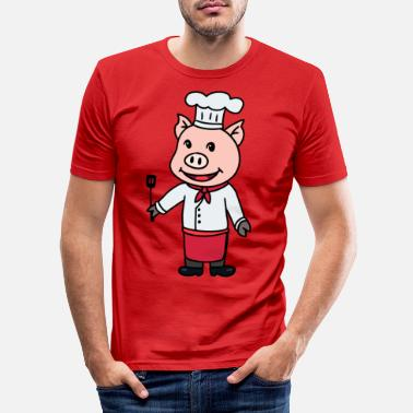 Hunger Chef cook restaurant gourmet kitchen job - Men's Slim Fit T-Shirt