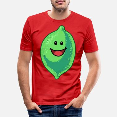 Sour Lime Limes Lemon Lemons Acid Fruits - Men's Slim Fit T-Shirt