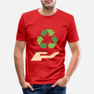 Recycling recycling - Mannen slim fit T-shirt