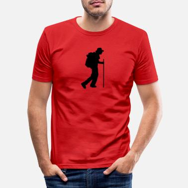 Excursion Hiker, excursion, excursion, live nature - Men's Slim Fit T-Shirt