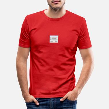 Windows Korjaa Windows - Miesten slim fit t-paita