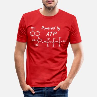 Biologie Powered by ATP - Männer Slim Fit T-Shirt