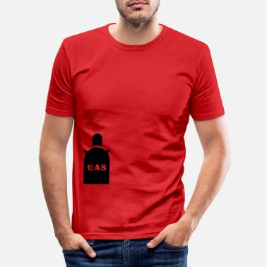 Gas Gas, gas mask - Men's Slim Fit T-Shirt