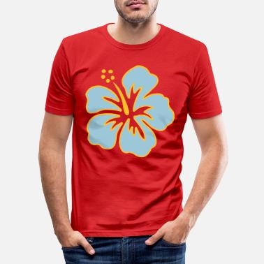 Hibiskus Hibiskus - Slim fit T-skjorte for menn