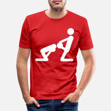 Blowen Blow Job - Mannen slim fit T-shirt