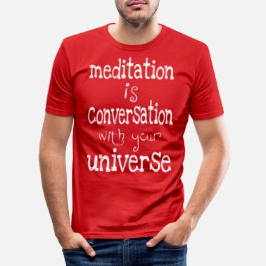 Meditation meditation är - T-shirt slim fit herr