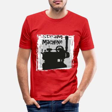 Steam engine, steammachine - Men's Slim Fit T-Shirt