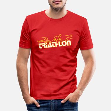 Triathlon Triathlon Lady red - Männer Slim Fit T-Shirt