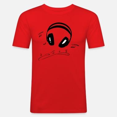 Cuffie con note musicali. Design musicale. Maglietta premium uomo ... e943b428066f