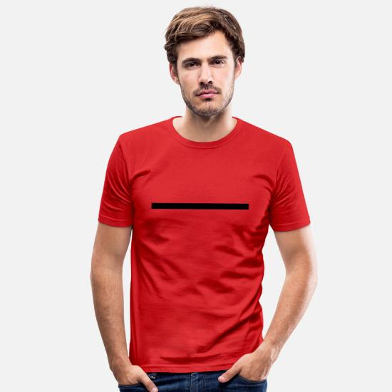 Line T-Shirts - Line 3 - Men's Slim Fit T-Shirt red