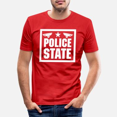 State police state - Men's Slim Fit T-Shirt