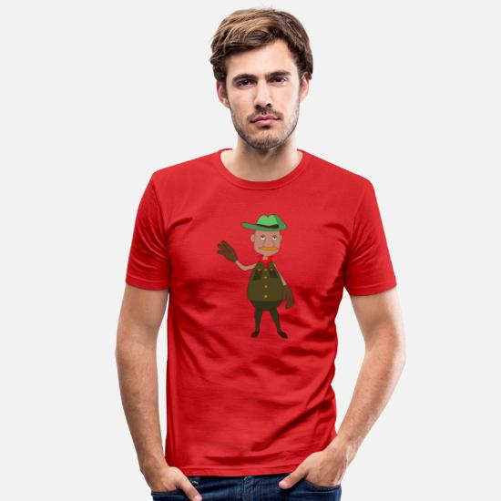 Gift Idea T-Shirts - adventurer - Men's Slim Fit T-Shirt red