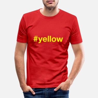 Yellow YELLOW - Men's Slim Fit T-Shirt