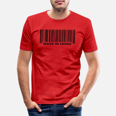 China Made in China - Mannen slim fit T-shirt