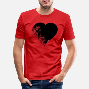 Serce heart_broken - T-shirt slim fit herr