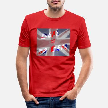 Deal Deal or No Deal with flag - Men's Slim Fit T-Shirt