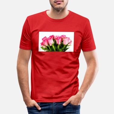Rose Roses. Roses. - Men's Slim Fit T-Shirt