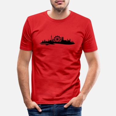 Attractive Munich skyline ferris wheel 3 - Men's Slim Fit T-Shirt