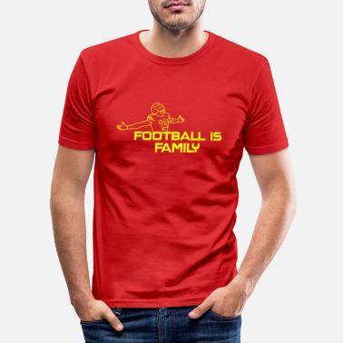 Ick Football is Family - Men's Slim Fit T-Shirt