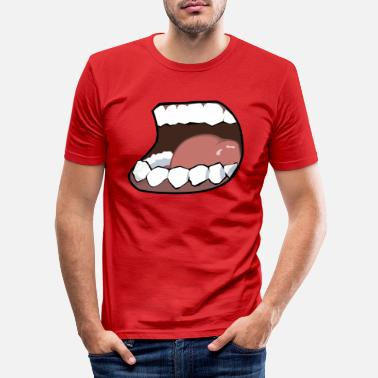 Mouth Hunger, mouth, mouth - Men's Slim Fit T-Shirt