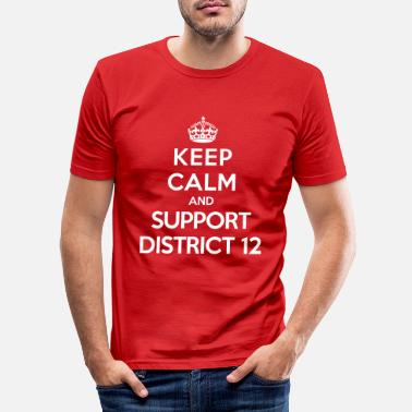 Hunger Keep calm and support District 12 (Hunger Games) - Men's Slim Fit T-Shirt