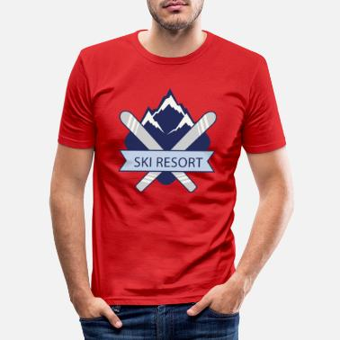 Ski Resort Ski Resort - Men's Slim Fit T-Shirt