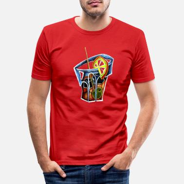 Cocktail party drink - Men's Slim Fit T-Shirt