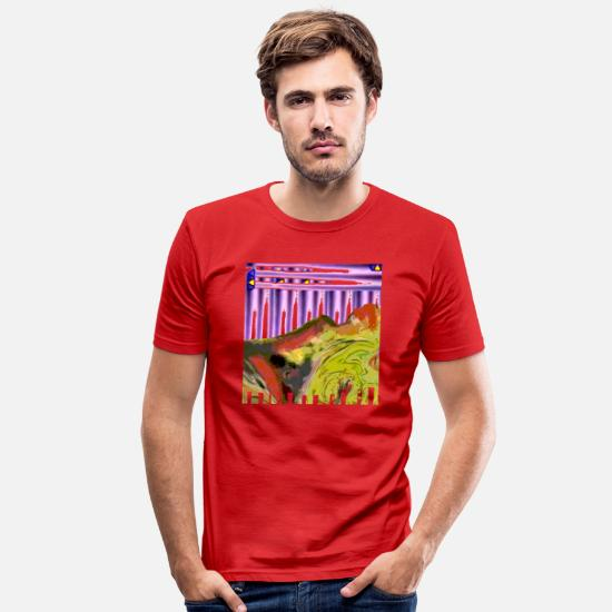 Love T-Shirts - female thinking - Men's Slim Fit T-Shirt red