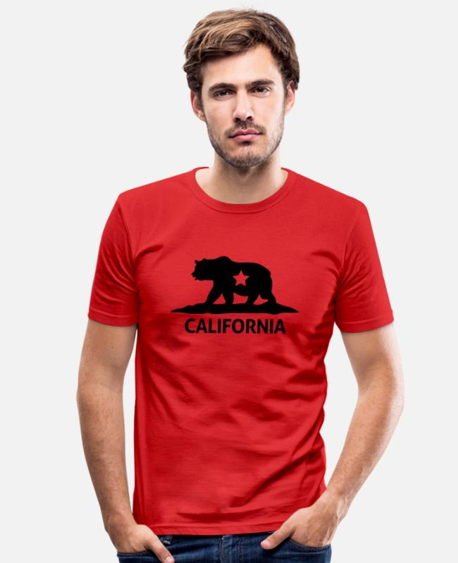 Usa T-Shirts - california - Men's Slim Fit T-Shirt red